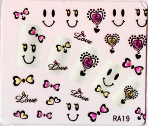 Factory Supply OEM quality 3d nail art stickers directly sale