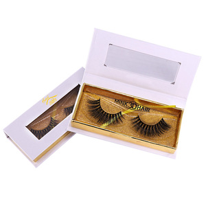 Free Samples Eyelashes Box Packing Magnetic False Eyelashes