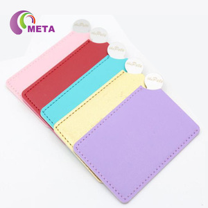 Mirror with Pocket, PU Leather Pocket Mirror with Logo