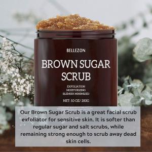 Wholesale Private Label Natural Moisturizing Exfoliating Brown Sugar Body Scrub