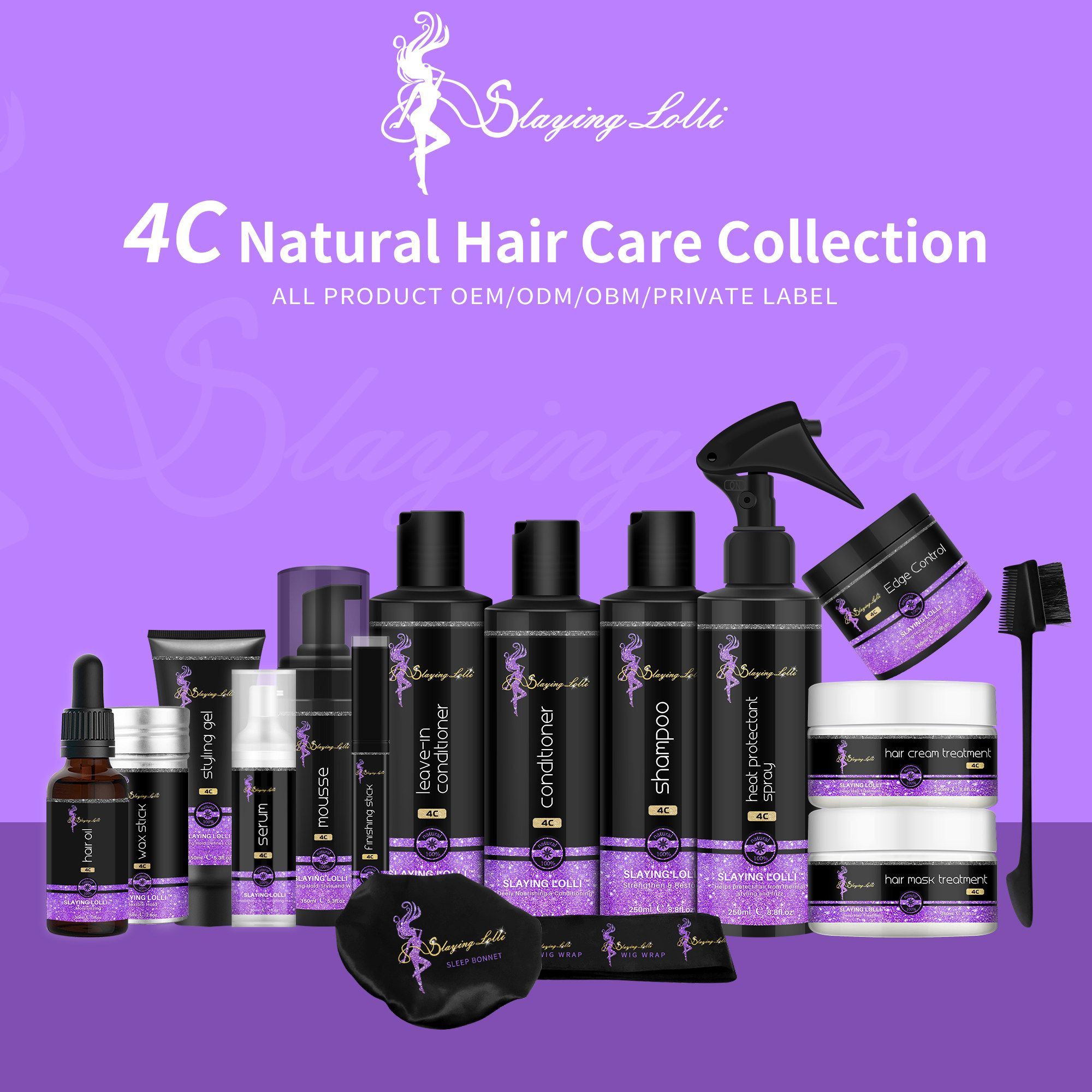 LOLLI factory customized label or no label hair styling products for women