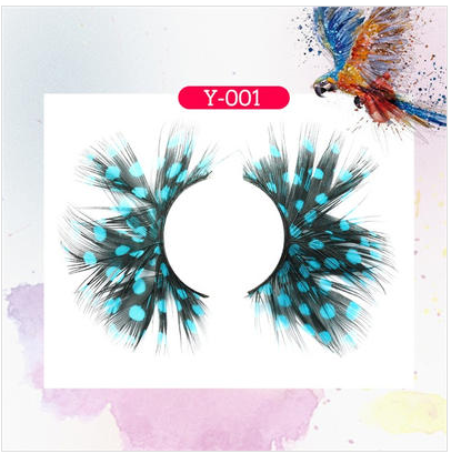 Party Exaggerated 3D Feather Eyelashes Y001