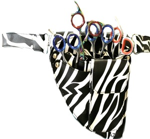 Barber Scissor Pouch and Holsters / leather barber bags / salon scissor kit bag