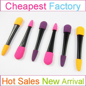 Double sided eye shadow applicator quality eyeliner applicator colorful
