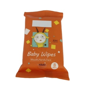 High quality private label organic competitive hand and face baby wet wipes with bag