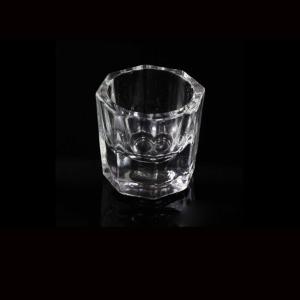 IMAGNAIL Small Acrylic Liquid Powder Dappen Dish Crystal Glass Cup for Acrylic Nail Art