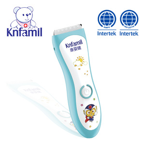 Intelligent baby household waterproof quite rechargeable hair clipper with nano ceramic blades hair trimmer