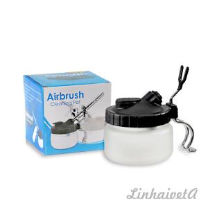 LinhaivetA air brush washing set airbrush cleaning pot mini spray gun cleaner