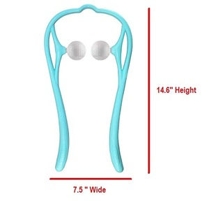 Neck and Shoulder Massager Dual Trigger Point Self Massage Tools for Head Neck Legs Feet