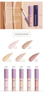 QIBEST Cosmetic Makeup Liquid Creamy Foundation Concealer