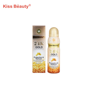 Refreshing water resistant skin protect spray wholesale 24K gold sunscreen