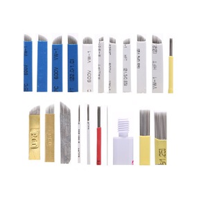 Wholesale Eyebrow Microblading Blades Disposable Tattoo Needles For Permanent Makeup Manual Pen
