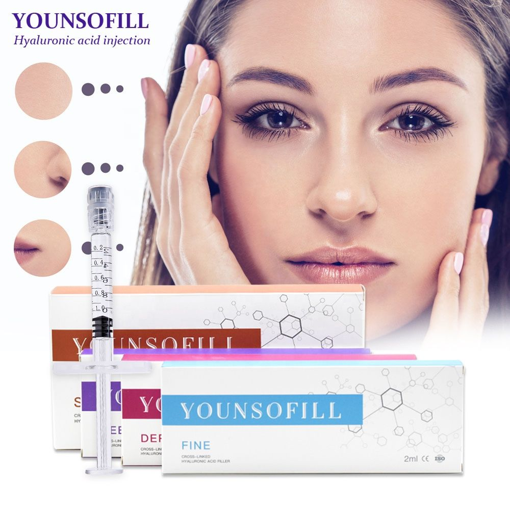 Younsofill CE ISO Clinic experiment double cross-linked non BDDE hyaluronic acid HA dermal filler injection