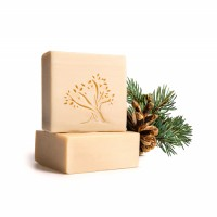 Le Joyau d'Olive - Luxury Pure Olive Oil Soap - Natural Handmade Bar for Face & Body - 1-Pack – Pine Scented bath bar