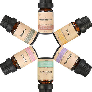 6/8/10 bottle Aromatherapy Essential Oils Private Label Gift Set 10ml Lavender Oil