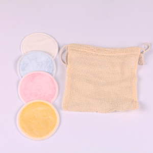 Bosi 8cm Reusable Makeup Remover Pads Bamboo Microfiber Washable Cloth Natural Bamboo Cotton Rounds Washable Eco-Friendly