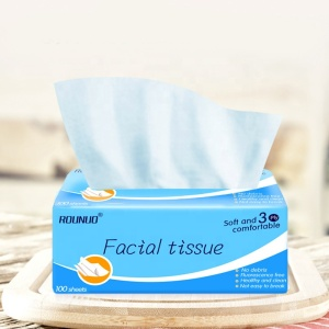 Custom Extract facial  tissue paper packing plastic bags comfortable soft facial tissue paper