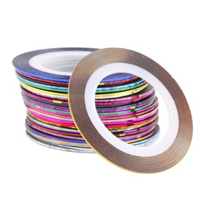 Fashion Acrylic Mixed Color Nail Art Decoration Sticker Striping Tape Paste
