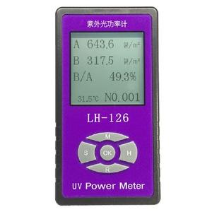 High Precision UV Power Meter Detector LH126 Handheld Digital UV Light Radiation Strength UV blocking Rate Meter Power Meter