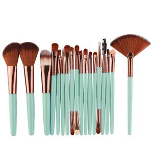 high quality eye shadow colorful makeup brush set