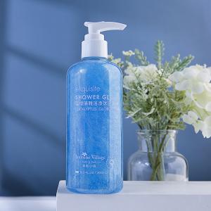OEM Aroma Treatment Shower Gel 300ml Eucalyptus Scented Vegan Moisturizing Bathing Gel Body Wash Private Label Skincare