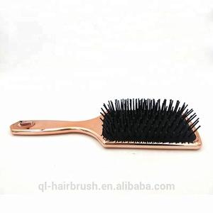 Paddle Brush Best for Detangling, Straightening Hair and Blowdrying, Rose Gold Hairbrush