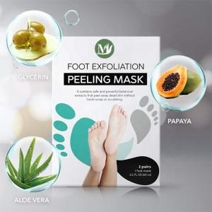 Private Label Foot Skin Care Exfoliating Custom Label Peeling Foot Mask 2 pack