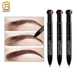 QIBEST Manufacturer Makeup Wholesale Cosmetic Art Peel Off Auto Automatic Waterproof Eyebrow Pencil