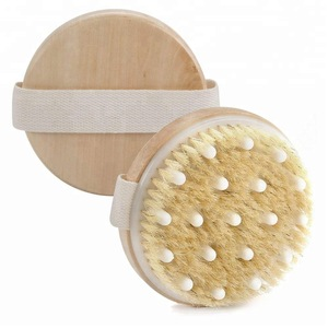 Round and large size bath body brush with bead