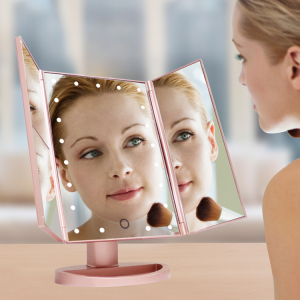 Trifold Table Led Lighted Makeup Mirror