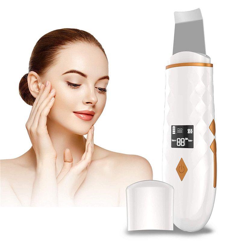 Perfect Idea Factory Portable Ion Ultrasound Facial Spatula Face Peeling Ultrasonic Skin Scrubber Ultrasonic Face Scrubber