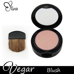 blush with single brush longwearig natural color wholesale cosmetic blusher palette