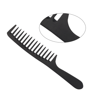 Hairdressing Comb Plastic Large Manufacturing Customized Comfortable Plastic Wide Tooth Plastic Hair Comb With Logo