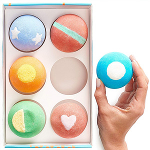 Handmade and organic bath bomb ball Bubble bath for gift set