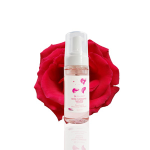 Private Label Organic Rose Cleansing Mousse Rose Foam Face Wash Facial Cleanser