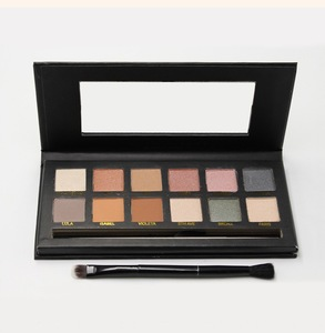 wholesale neutral makeup 12 colors eyeshadow palette private label 12 color eyeshadow palette