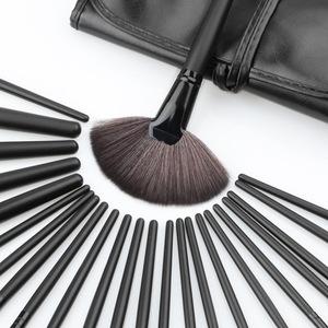 24pcs Black Makeup Brushes Set Kits Professional Makeup Tools Brand