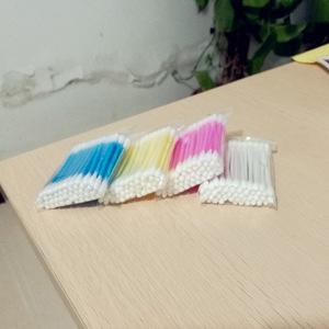 50PCS Cheap Price Colorful Plastic Stick Bar Cotton Buds In PE Bag
