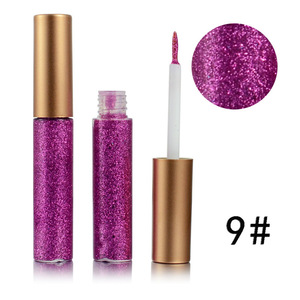 High quality waterproof eye liner private Label 12 color liquid glitter Eyeliner vegan eyeliner