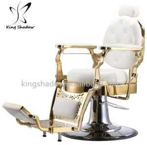 Kingshadow salon hair equipment barber pole antique barber chairs hairdresser red barber chair for sale