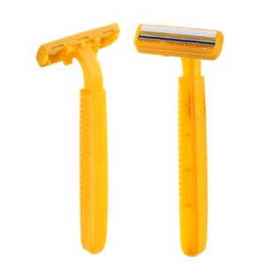 Mens double blade safety disposable shaving razor