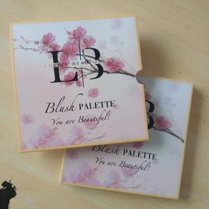 OEM Wholesale Cardboard Blush Palette 9 Colors Face Makeup Shimmer Blush Powder With Mirror Blusher Vegan Cosmetic