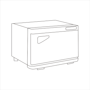 Portable Salon Heated Hot Cabinet Uv Sterilizer Towel Warmer