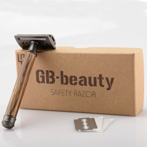 Private Label Body and Face Shave Matte Black Bamboo Women Wooden Safety Shaving Razor