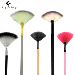 private label cosmetics makeup 1 pcs fan shape makeup brush