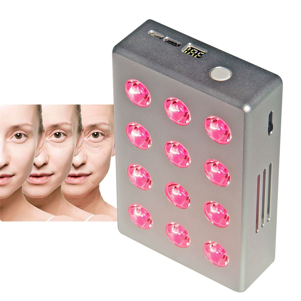 Hot model Skincare FDA approved TL12 portable red light therapy 850nm 660nm battery inside.