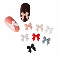 3D Bow Nail Stickers Matte Designs Art 10PCS/lot Fashion Lovely Korean Style Acrylic Nail Jewelry Bows Tie