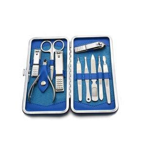 10pcs Manicure Set Pedicure Scissor Tweezer Knife Ear Pick Utility Nail Clipper Kit ,Stainless Steel Nail Care Tool