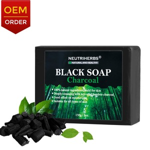 African Black Charcoal Handmade Face Soap For Oily Skin To Refreshing And Cleaning