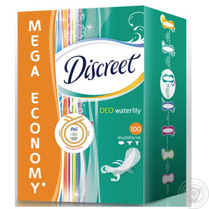 DISCREET 20PCS Deo Water Lily Panty Liners